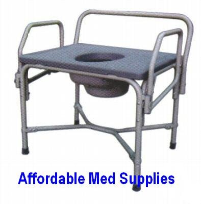 Buy Bedside Commode – Drop Arm – Bariatric Heavy Duty 850 Pound Weight Capacity