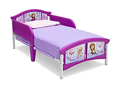 Disney Frozen Toddler Bed - Metal Bed for Child Pink - Princess Anna Elsa