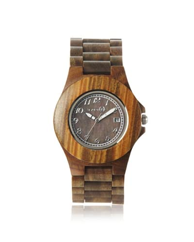Earth Women's SETO04 Xylem Olive/Brown Wood Watch