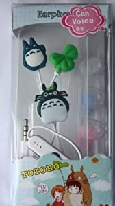 Totoro Remote with Mic 3.5mm Handfree Earbud Earphone + 3 pair soft earpads