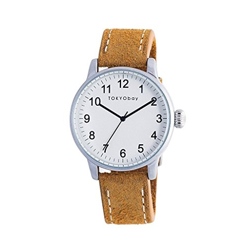 tokyobay-t626-tan-mens-stainless-steel-tan-leather-band-white-dial-smart-watch