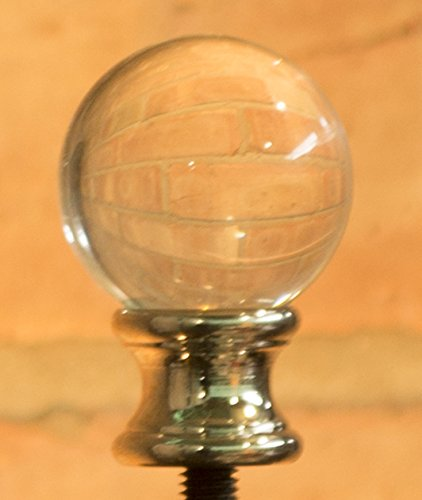 Urbanest Crystal Ball Lamp Finial For Lamp Shades, 1-5/8-inch