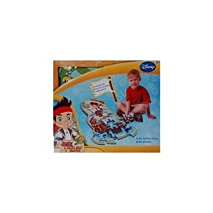 Disney Jake and the Neverland Pirates 25-piece Floor Foam Puzzle Mat