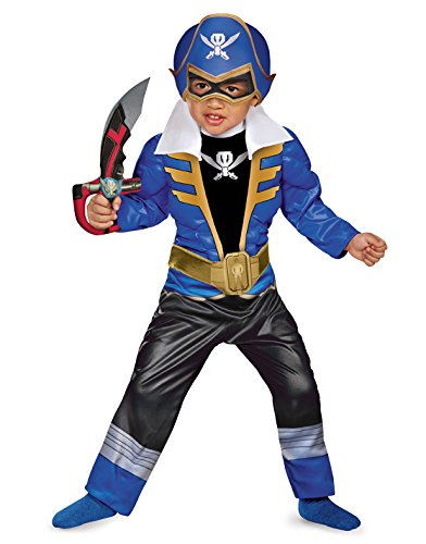 Disguise Saban Super MegaForce Power Rangers Blue Ranger Toddler Muscle Costume