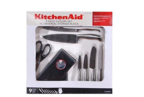 Kitchenaid Knife Set Gourmet 9 Pieces With Block
