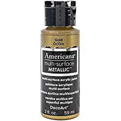DecoArt Americana Multi-Surface Metallic Paint, 2-Ounce, Gold