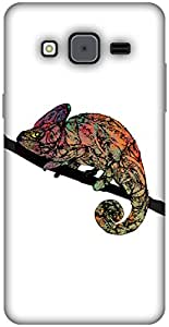 The Racoon Lean printed designer hard back mobile phone case cover for Samsung Galaxy On7. (Chameleon)