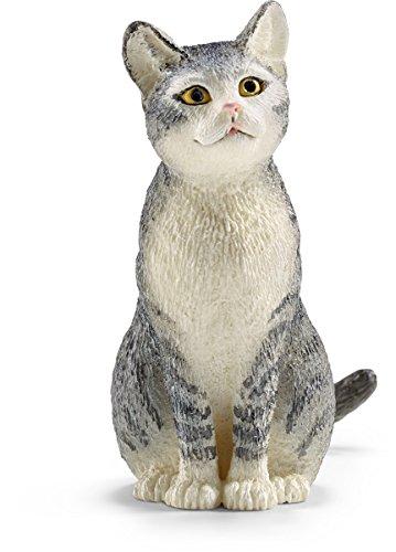 Schleich Cat, Sitting Toy Figure - 1