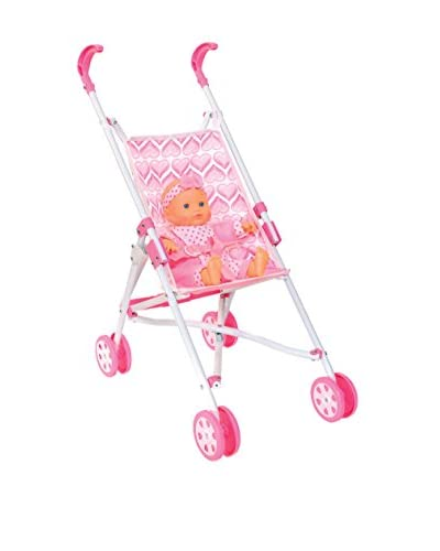 Color Baby Sillita Paraguas Con Bebe Amore Set Sillita Paraguas Mini C/ B Rosa/Blanco