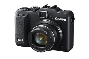 Canon PowerShot G15 Digitalkamera (12 Megapixel, 5-fach opt. Zoom, 7,6 cm (3 Zoll) LCD-Display, Full-HD, bildstabilisiert) schwarz