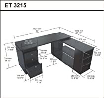 Hot Sale Inval ET-3215 L Shaped Computer Desk
