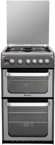 Hotpoint HUG52G Double Oven Gas Cooker in Graphite