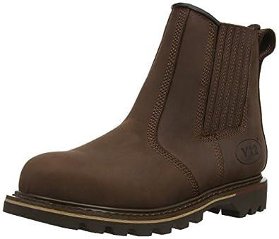 V12 Mens Rawhide Safety Boots V1231 Brown 6 UK, 36 EU