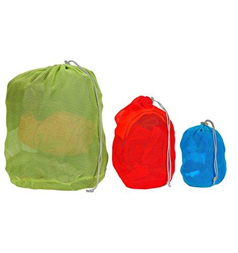 Vango - Borsa in rete, ideale da trasportare all'interno di zaini, verde/rosso/blu