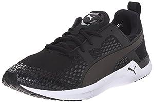PUMA Women's Pulse XT 3-D New Running Sneaker, Black/White, 6.5 B US