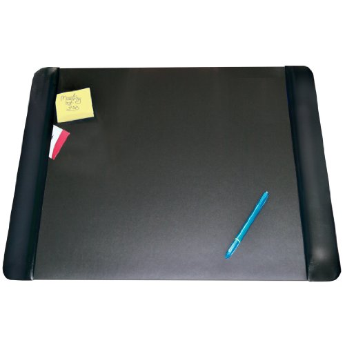 "Artistic 19"" X 24"" Antimicrobial Executive Desk Pad With Microban, Black"