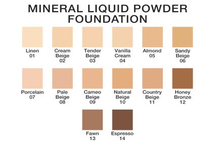 Mineral Liquid Powder Foundation SPF 15 1.2 Oz. Hypoallergenic - For All Skin Types treat