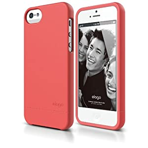 elago S5 Glide Case for iPhone 5/5S - eco friendly Retail Packaging (Soft Feeling Italian Rose)