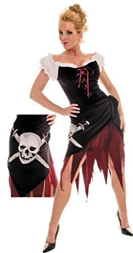 Underwraps Womens Pirate Wench Theme Party Fancy Dress Halloween Costume