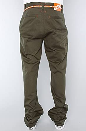 com: DGK The Working Man 2 Chino Pants in Army,28,Green: Clothing