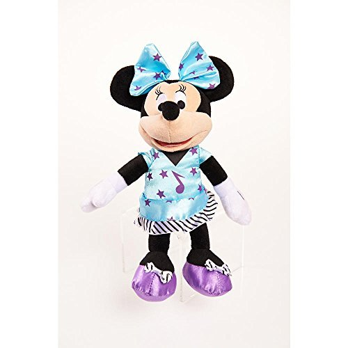 MINNIE BOWTIQUE MINI PLUSH Light blue dress w/ purple stars and music note
