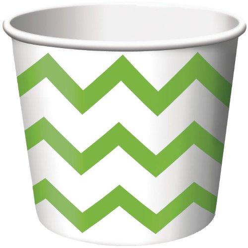 Chevron Stripe Treat Cups Fresh Lime