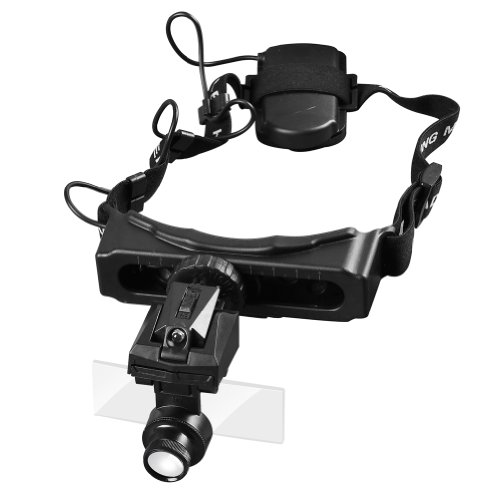 5 Lens/Set Lopue Illuminating Helmet Dual Lens Repair Led Watch Magnifier(Black)