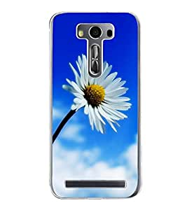 White Flower 2D Hard Polycarbonate Designer Back Case Cover for Asus Zenfone 2 Laser ZE500KL (5 INCHES)