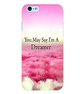 Printvisa Premium Back Cover Dreamer Quote With A Cloudy Pic Design For Apple iPhone 6