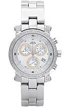 Aqua Master Unisex Power Two-Row Diamond Watch with Diamond Dial, 2.20 ctw