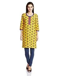 Rangriti Women's Cotton Straight Kurta - B00MEEYM6I