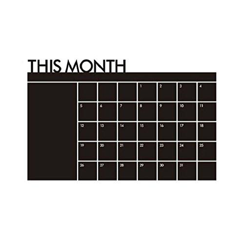 Culater® 60x92 Calendario Piano Mese Lavagna Memo Adesivo Da Parete Adesivi Murali