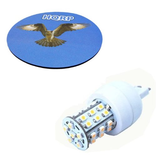 Hqrp Dimmable G9 36 Leds Smd3528 120V Ac Led Bulb Warm White Plus Hqrp Coaster