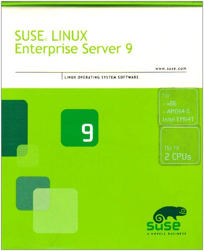 SUSE Linux Enterprise Server 9 (x86 and AMD64 & Intel EM64T Software Media Kit English and German and 1-Server up to 2-CPU Annual Upgrade Protection) (Linux)
