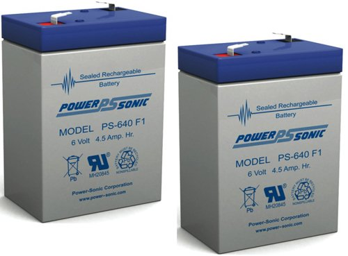 6V 4.5Ah Sl Waber Powerhouse 420T Replacement Rhino Battery - 2 Pack