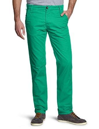 TOM TAILOR Denim Herren Hose 64006570112/solid chino, Gr. 31/36 (31), Grün (7356 mint hopper green)