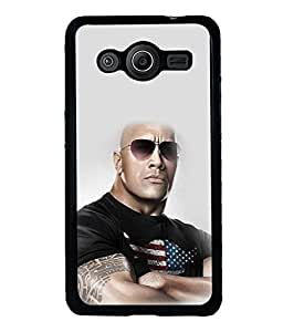 printtech WWE The Rock Back Case Cover for Samsung Galaxy Core Prime G360
