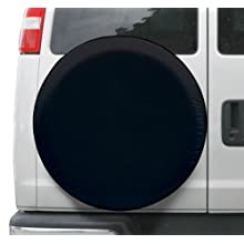 "Classic Accessories 75387 Black Universal Fit Spare Tire Cover, Fits wheel diameter 30"" - 33"""