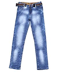 DUC Boy's Denim Light Blue Jeans (kd12-lb-38)