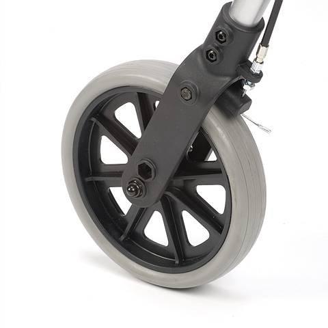 Leichtgewichtrollator Ligero silber, Sitz, Korb, SH 56cm, Rollatoren