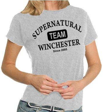 "T-shirt da donna con stampa ""Supernatural - Team Winchester"" [in lingua inglese] XS - XXL, colori assortiti"