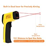 Dr. Meter Dual Digital IR Laser Infrared Thermometer Gun Lasergrip Backlit Non-Contact Temperature
