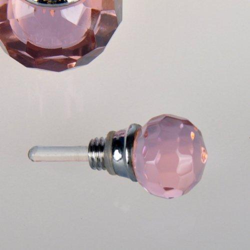 H&D Victorian Pink Vintage Crystal Empty Decor Mini Refillable Perfume Bottle 2