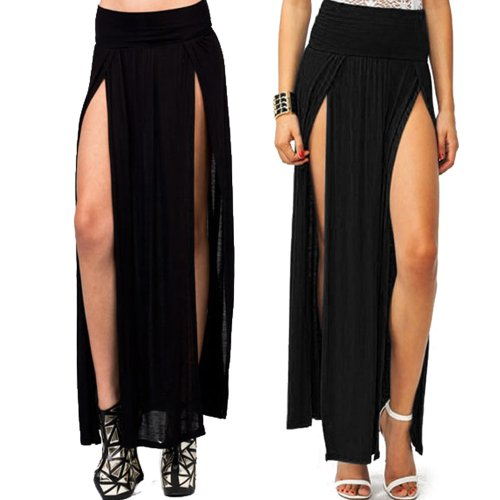 Double slits maxi skirt at maxi dresses with sleeve and cheap skirts