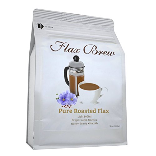Flax Brew -Superfood Tea - Pure Roasted Flaxseed - Non-GMO- Weight Loss, Controls Cravings, Improves Digestion, Cleanse, Energy, High in Antioxidants, and Omega 3s, Brews easily In Any Coffee Maker (Flax Seed Roasted compare prices)