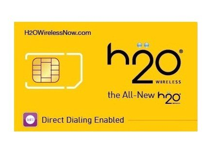 H2O Wireless Direct Dialing GSM Sim Card Starter Kit AT&T Network Prepaid - Lowest Rate Nationwide, No Contract