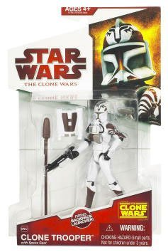 Buy Low Price Hasbro Star Wars 2009 Clone Wars Animated Action Figure Clone Trooper (Space Gear) (B002MZGOG0)