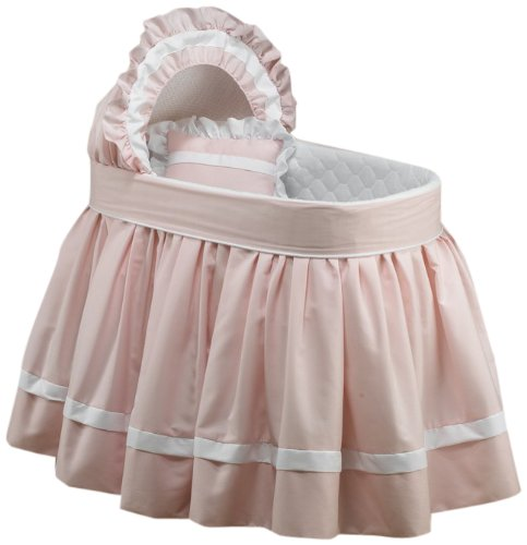 Baby Doll Darling Pique Bassinet Bedding, Pink
