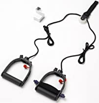 Multi-Use Shoulder Pulley Deluxe - with Foam Cushion Assistive Grip & Metal Door Bracket