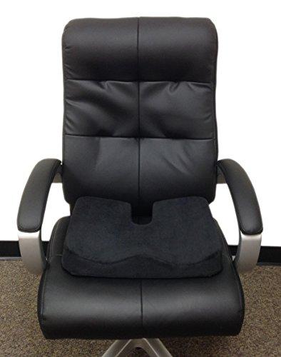 kieba coccyx seat cushion large orthopedic tailbone pillow ultra premium 100 memory foam seat. Black Bedroom Furniture Sets. Home Design Ideas